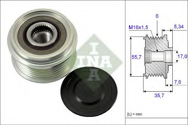 Муфта генератора INA 535007710