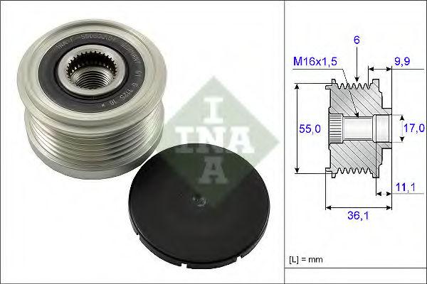 Муфта генератора INA 535010310