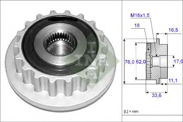 Муфта генератора INA 535011810