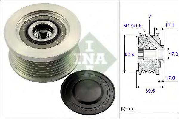 Муфта генератора INA 535017710