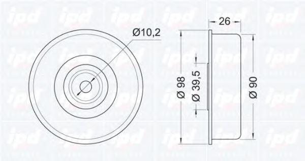 Ролик ремня генератора IPD 150757