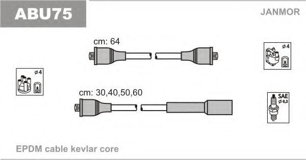 Провода высоковольтные JANMOR ABU75