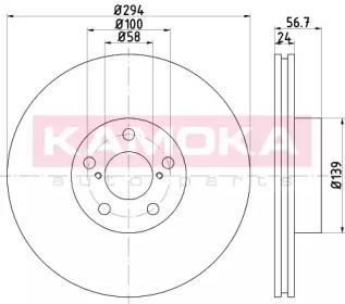 Тормозные диски KAMOKA 1032350