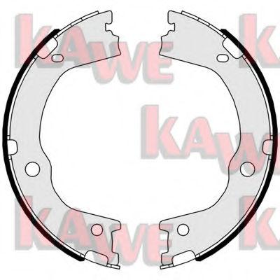 Тормозные колодки барабанные KAWE 01047