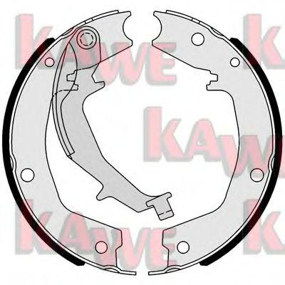 Тормозные колодки барабанные KAWE 01053