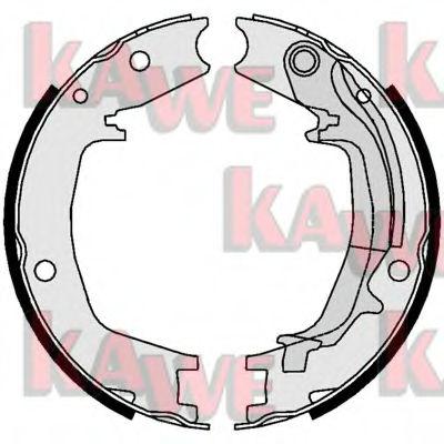 Тормозные колодки барабанные KAWE 01062