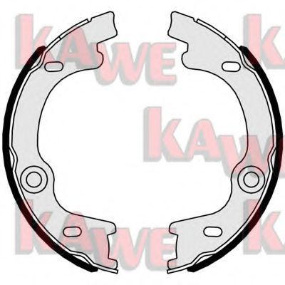 Тормозные колодки барабанные KAWE 01063