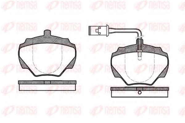 Тормозные колодки KAWE 022201