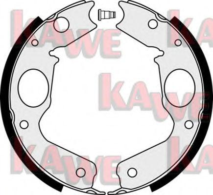 Тормозные колодки барабанные KAWE 08350