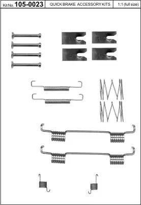 Ремкомплект барабанных колодок KAWE 1050023