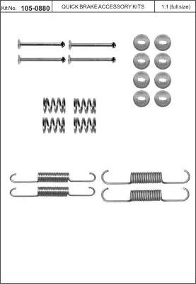 Ремкомплект барабанных колодок KAWE 1050880