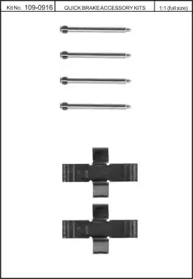 Скобы тормозных колодок KAWE 1090916