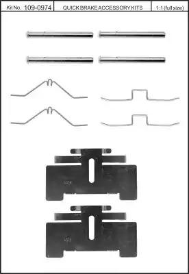 Скобы тормозных колодок KAWE 1090974