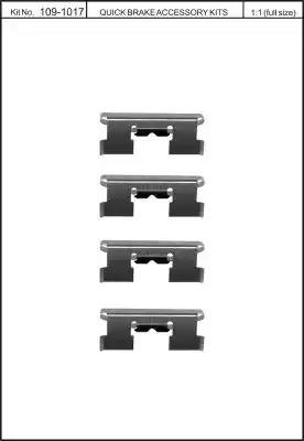 Скобы тормозных колодок KAWE 1091017