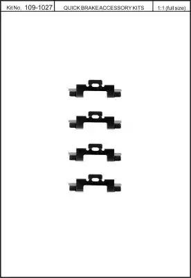 Скобы тормозных колодок KAWE 1091027