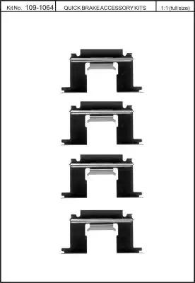 Скобы тормозных колодок KAWE 1091064
