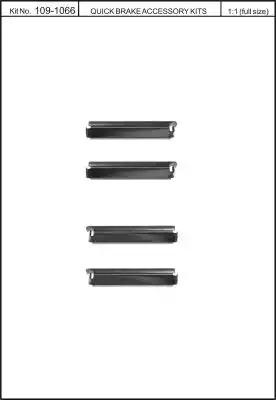 Скобы тормозных колодок KAWE 1091066