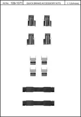 Скобы тормозных колодок KAWE 1091071