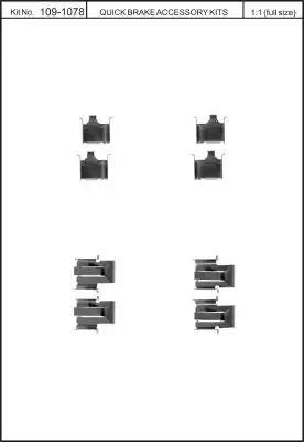 Скобы тормозных колодок KAWE 1091078