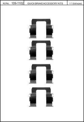 Скобы тормозных колодок KAWE 1091102