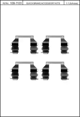 Скобы тормозных колодок KAWE 1091103