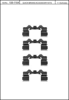 Скобы тормозных колодок KAWE 1091104