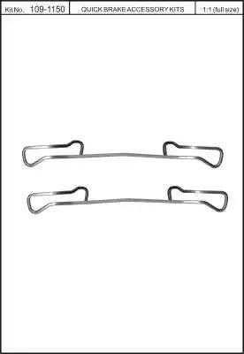 Скобы тормозных колодок KAWE 1091150