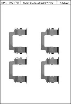 Скобы тормозных колодок KAWE 1091161