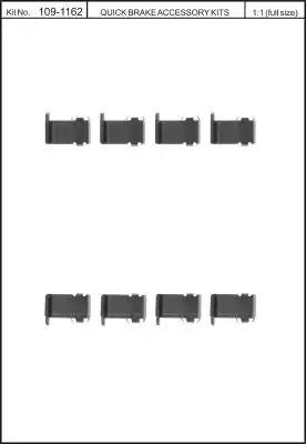 Скобы тормозных колодок KAWE 1091162