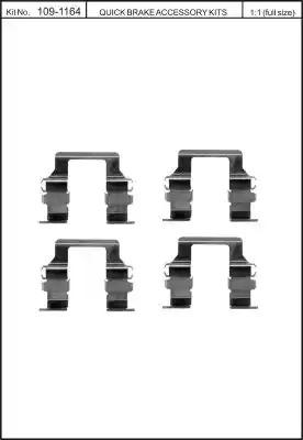 Скобы тормозных колодок KAWE 1091164