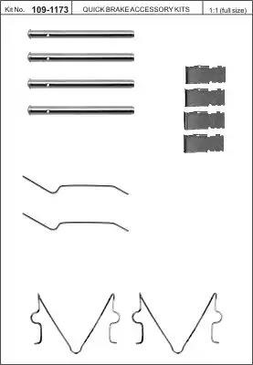Скобы тормозных колодок KAWE 1091173