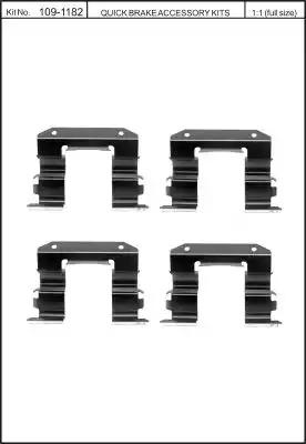 Скобы тормозных колодок KAWE 1091182