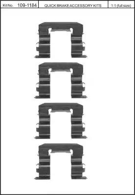 Скобы тормозных колодок KAWE 1091184