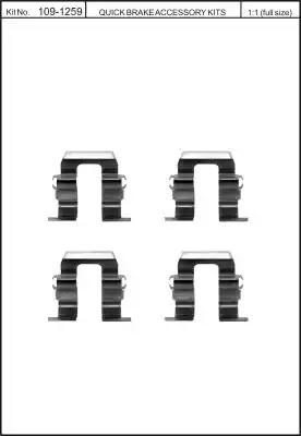 Скобы тормозных колодок KAWE 1091259
