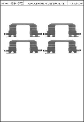 Скобы тормозных колодок KAWE 1091672