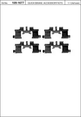 Скобы тормозных колодок KAWE 1091677