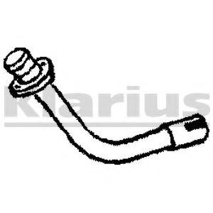 Приемная труба глушителя KLARIUS 110092
