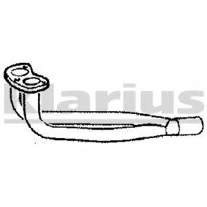 Приемная труба глушителя KLARIUS 120095