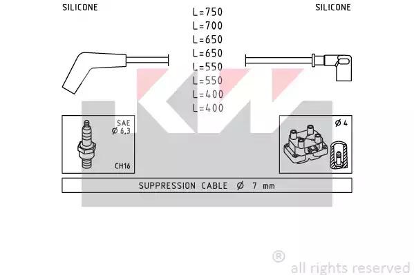 Провода высоковольтные KW 358107