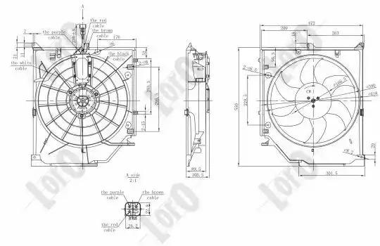 Вентилятор радиатора кондиционера LORO 0040140001