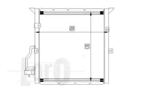 Радиатор кондиционера LORO 0040160001