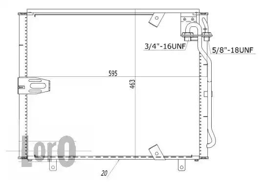 Радиатор кондиционера LORO 0040160002