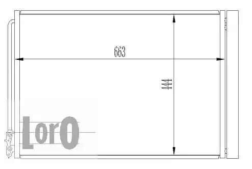 Радиатор кондиционера LORO 0040160003