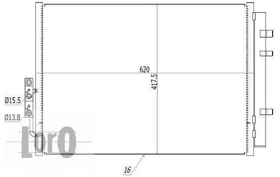 Радиатор кондиционера LORO 0040160004