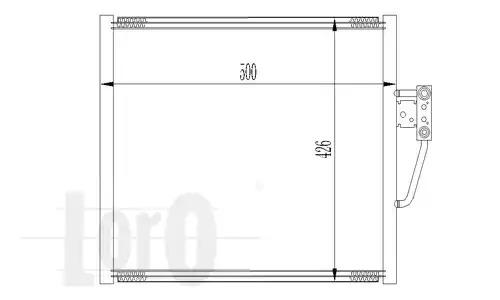 Радиатор кондиционера LORO 0040160005