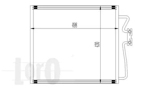 Радиатор кондиционера LORO 0040160006