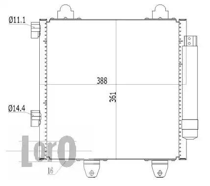 Радиатор кондиционера LORO 0090160022
