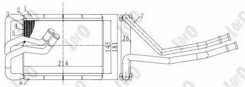 Радиатор печки LORO 0190150005B