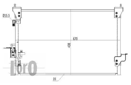 Радиатор кондиционера LORO 0270160004