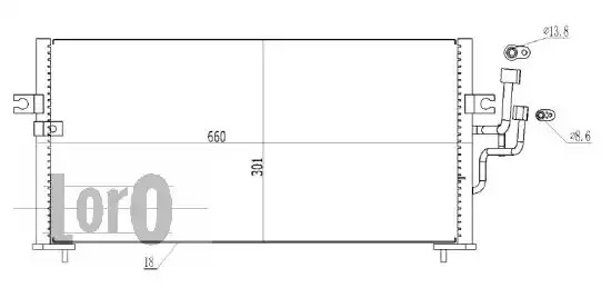 Радиатор кондиционера LORO 0330160003